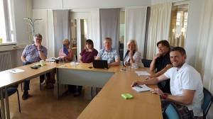 Lars, Nina och Ida från Flen. Mart, Halina, Seppo och Magnus från Eskilstuna.
