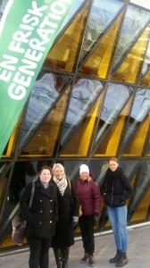 Annelie Hedberg, Folkhälsoutskottet, Anna Johansson Milovanovic, Kommunstrateg, Karin Engberg, Avdelningschef Sportcentrum och Johanna Bergström, Ungdomstorget.